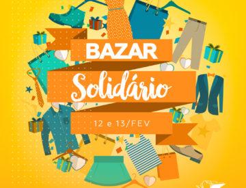 ENCERRADO – Bazar Solidário 12 e 13/02
