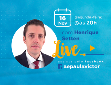 Palestra Online com Henrique Setten – 16/11